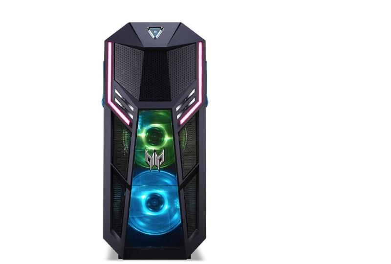 Predator orion 5000 posiada wiele podświetlenia RGB dla graczy