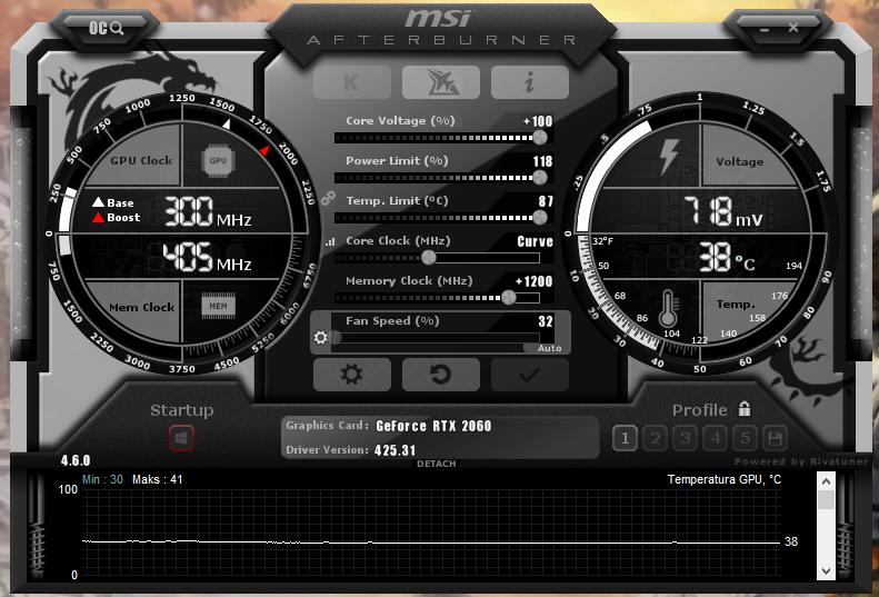 Podkręcanie karty graficznej - MSI Afterburner