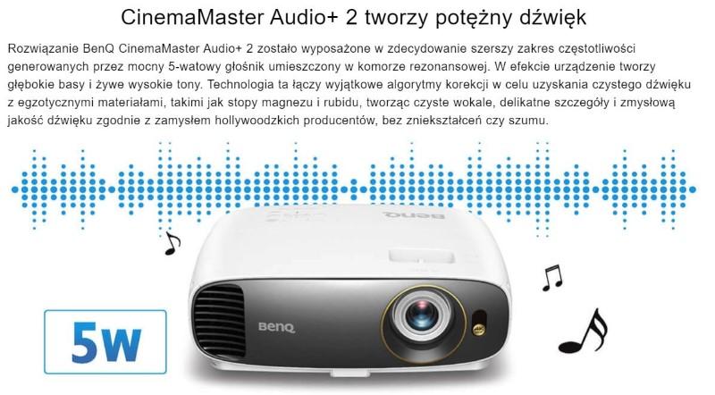Projektory BenQ wyposażono w CinemaMaster Audio