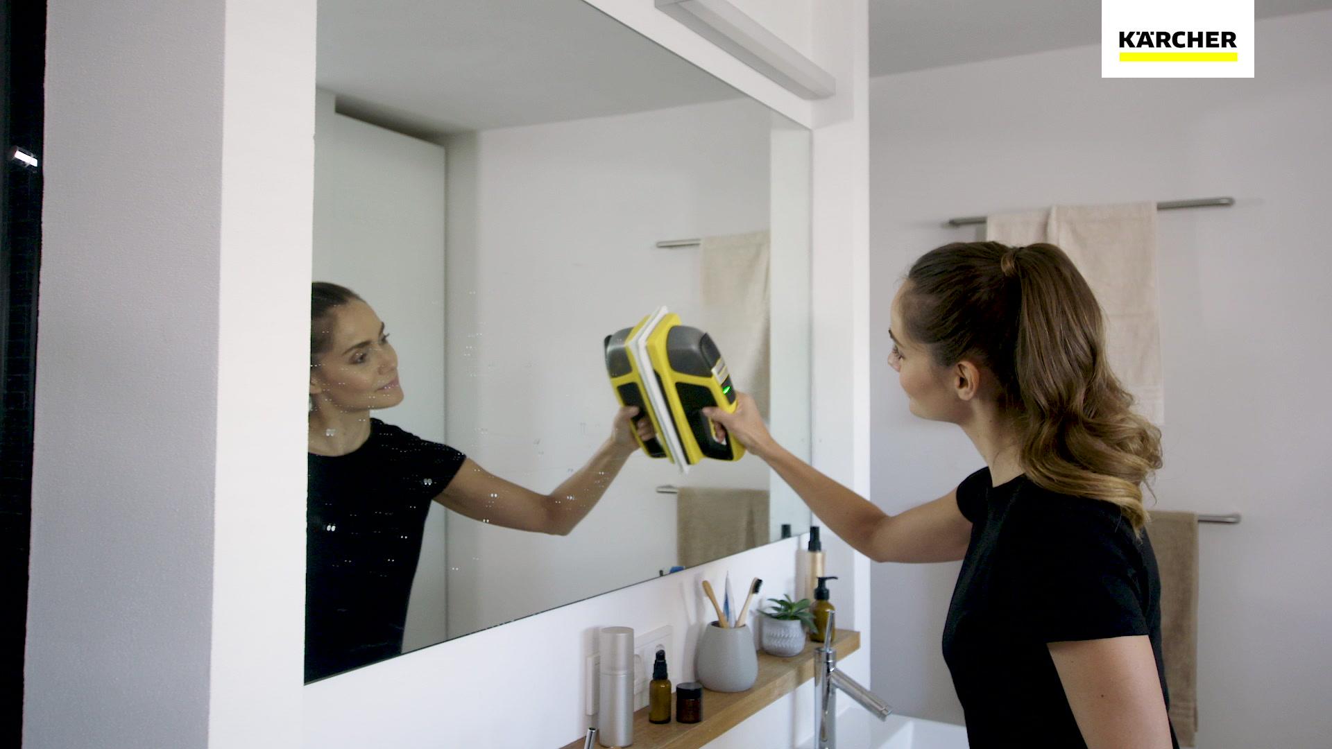 czyszczenie lustra myjką Karcher WV6 + KV4 1.633-570.0