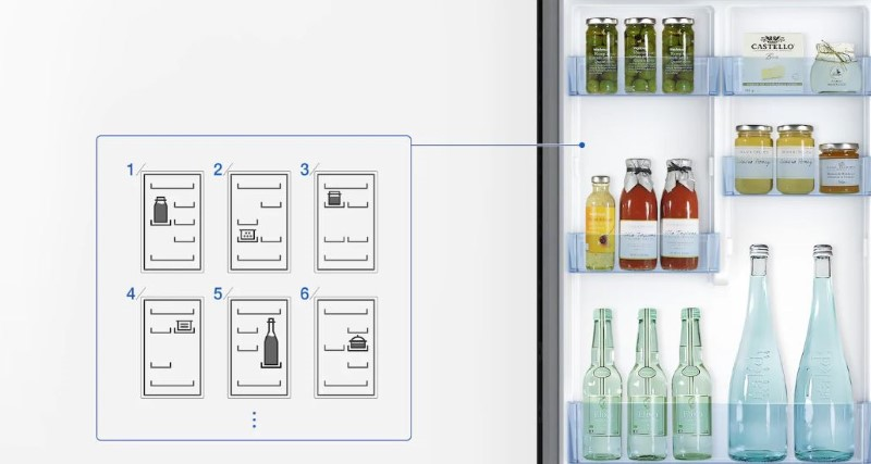 Lodówki Samsung pozwalają na dowolne ustawienie półek