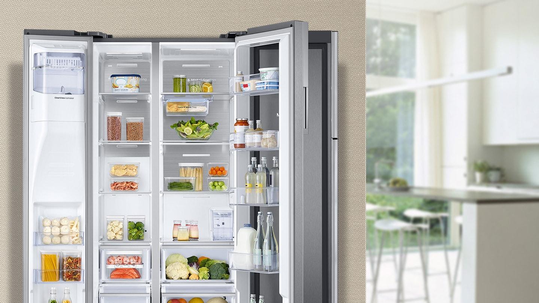 przemyślane wnętrze w lodówce Samsung RH58K6598SL