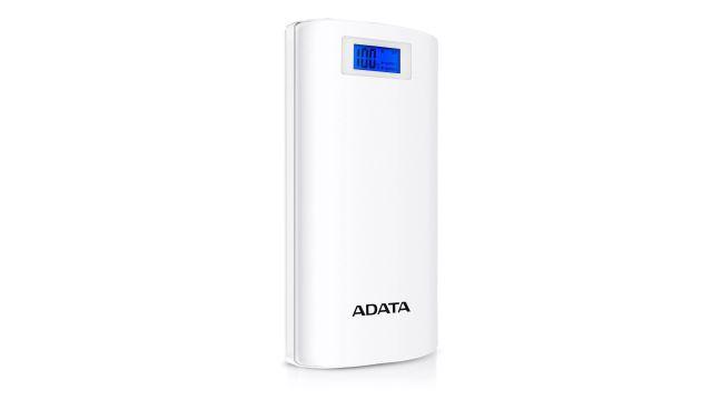 Adata P20000D 20000mAh (AP20000DDGT5VCWH) posiada cyfrowy wyświetlacz