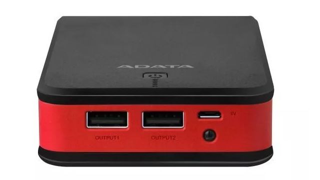 Adata P20100 20100mAh (AP201005VCBKRD) ma dwa porty USB