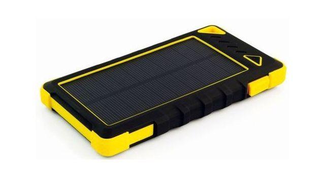 Sunen PowerNeed 8000mAh Żółty (S8000Y) z baterią solarną