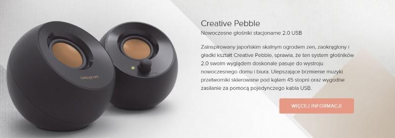 Creative pebble stworzono w stylistyce zen