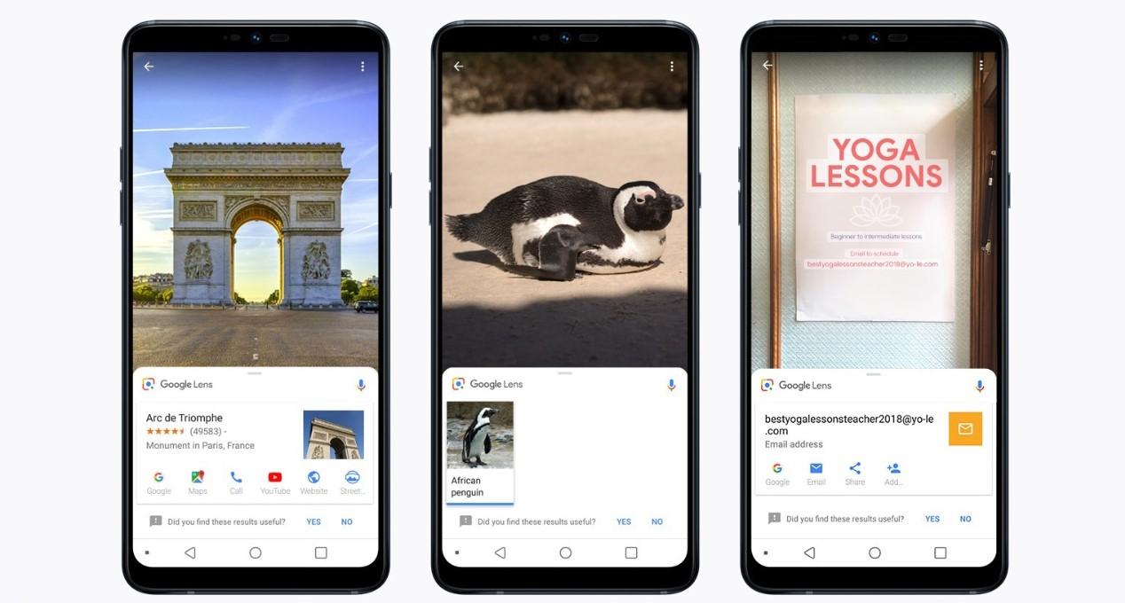 Obiektyw Google w LG G7 Fit