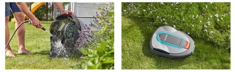 Gardena Sileno może być czyszczona za pomocą węża ogrodowego