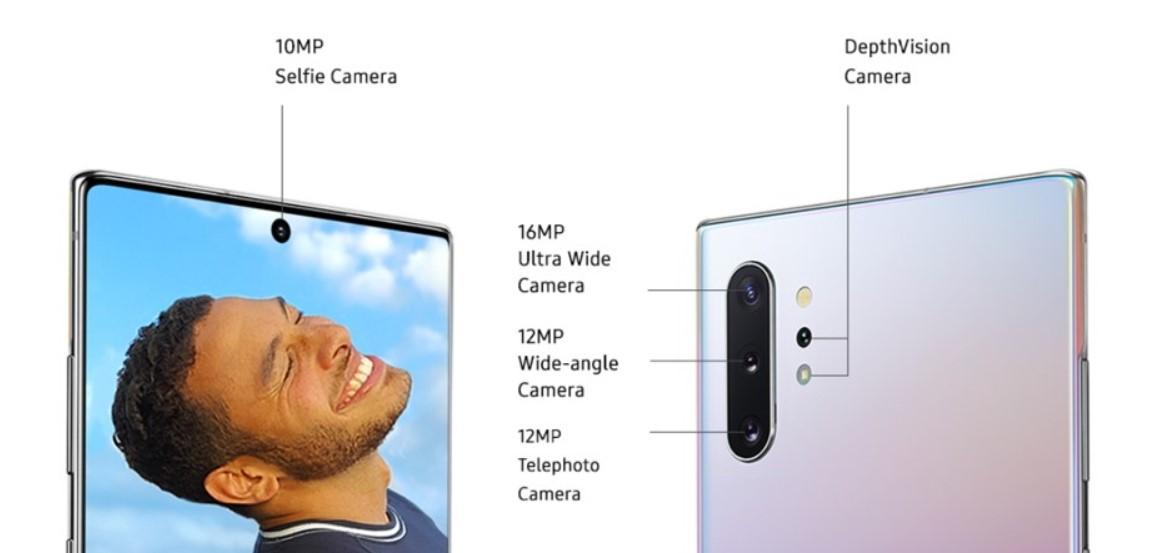 Moduły kamery w Galaxy Note 10