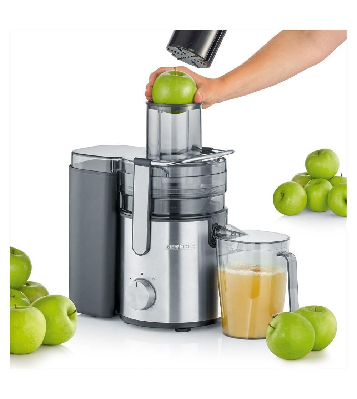 robienie soku jabłkowego w sokowirówce Severin