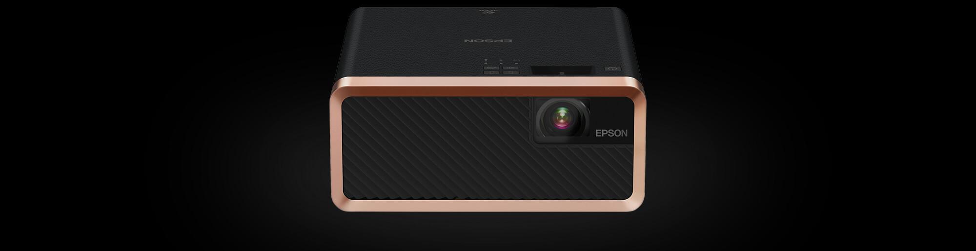 bardzo mały projektor Epson w czarnej kolorystyce