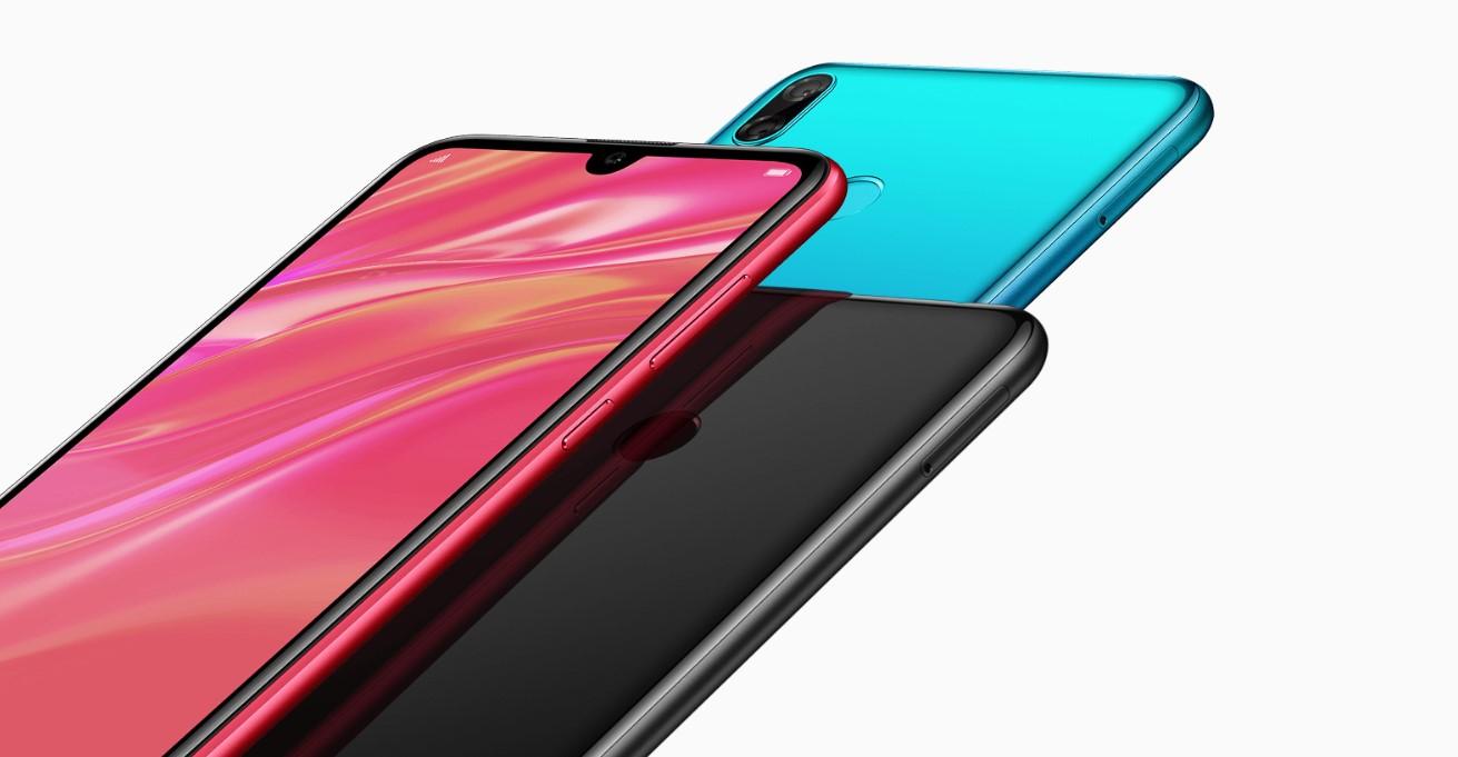 Huawei Y7 2019 design i kolory