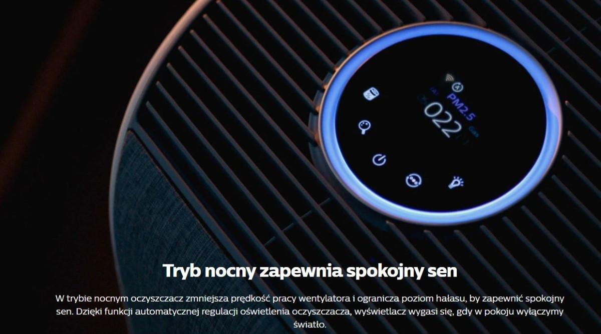 Tryb nocny oczyszczacza Philips AC3858/50