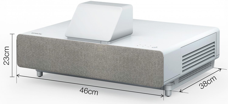 wymiary projektora laserowego Epson LS500