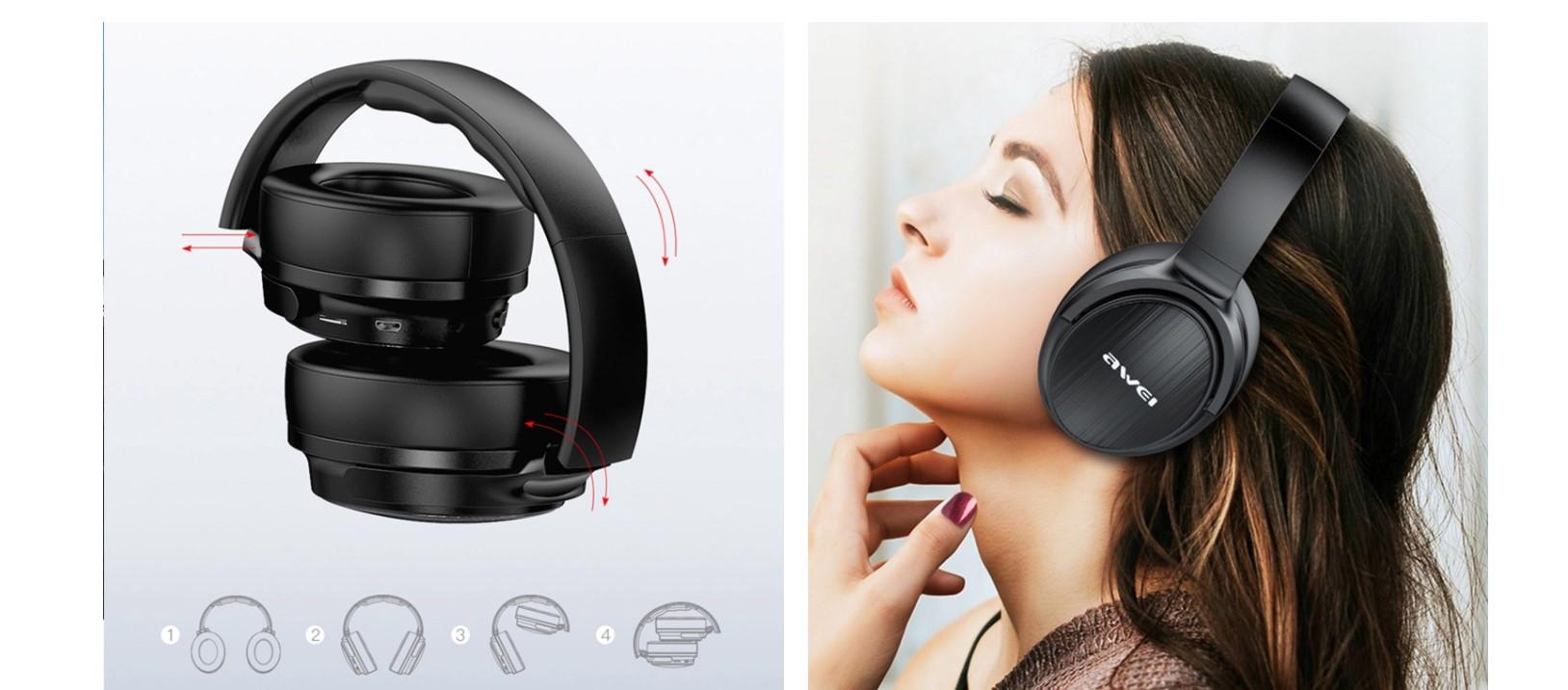 Awei słuchawki Bluetooth