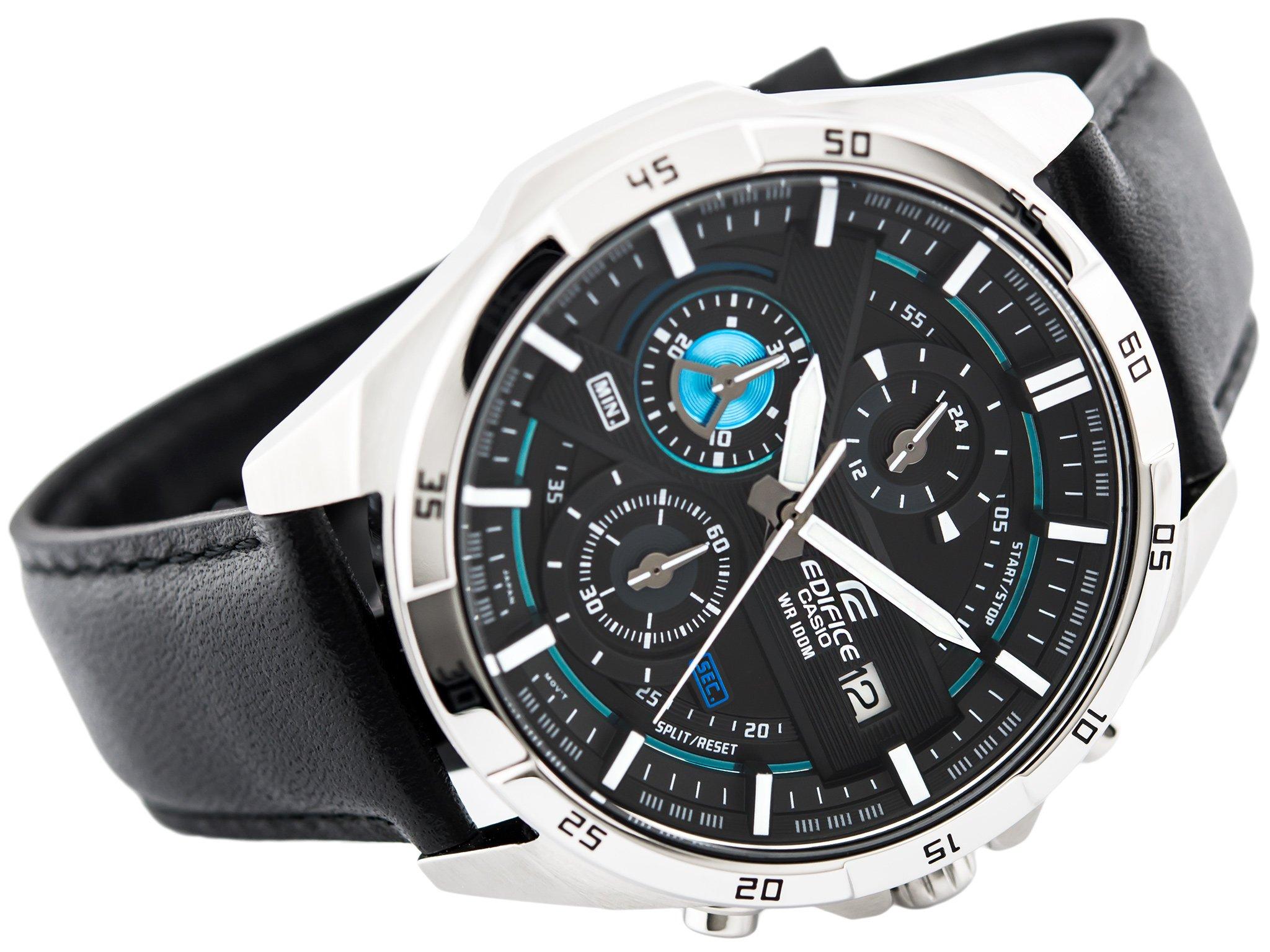 zegarek męski Casio z czarnym paskiem
