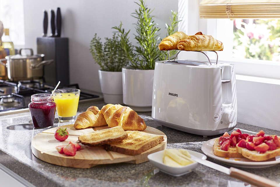 grzanki i tosty z białego tostera Philips