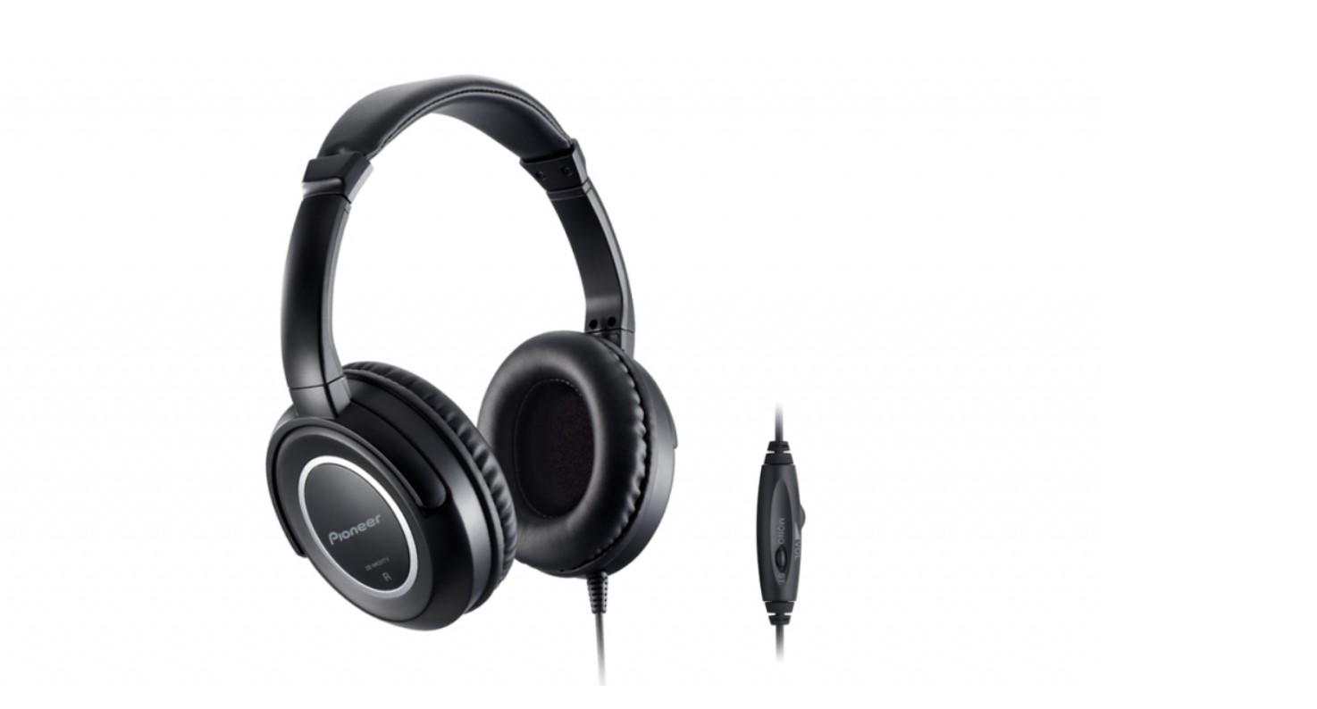 Słuchawki Pioneer oferują aż 5-metrowy kabel z kontrolą głośności