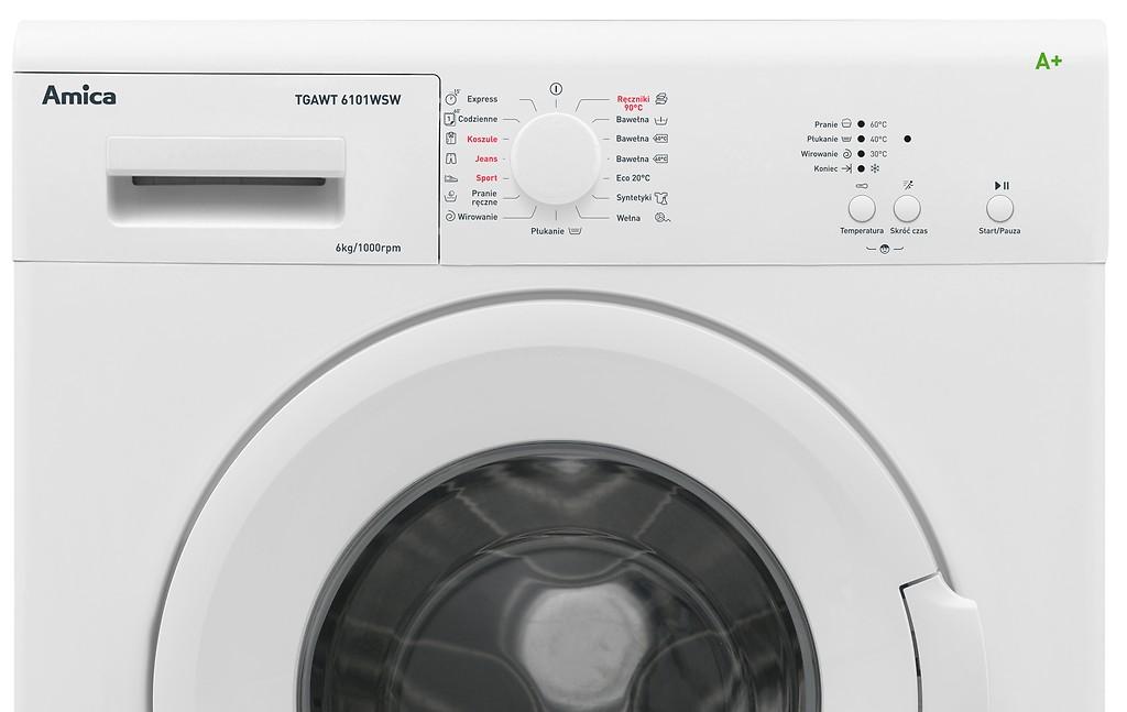 sterowanie pralką Amica