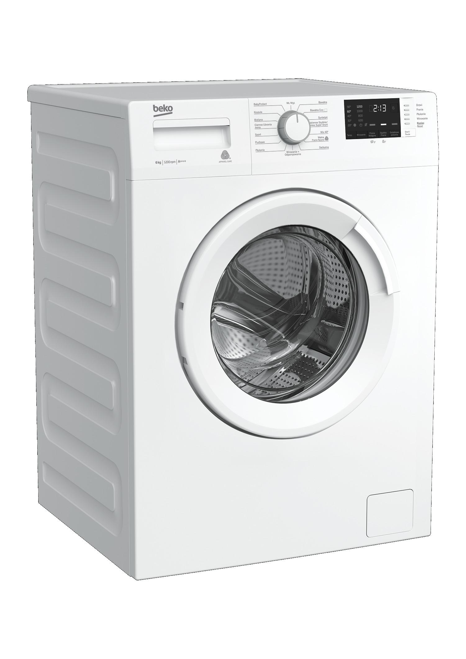 wygląd pralki automatycznej Beko