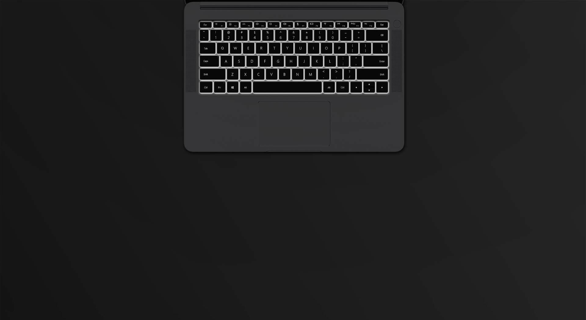 Honor Magicbook podświetlana klawiatura
