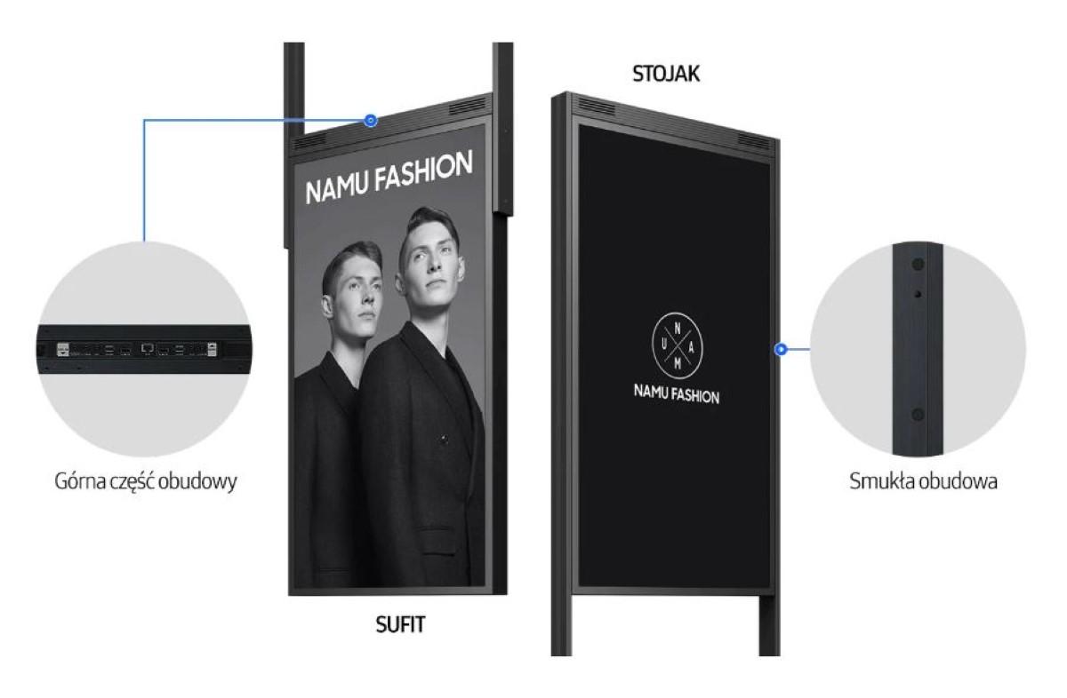 Obudowa monitorów dwustronnych Samsunga
