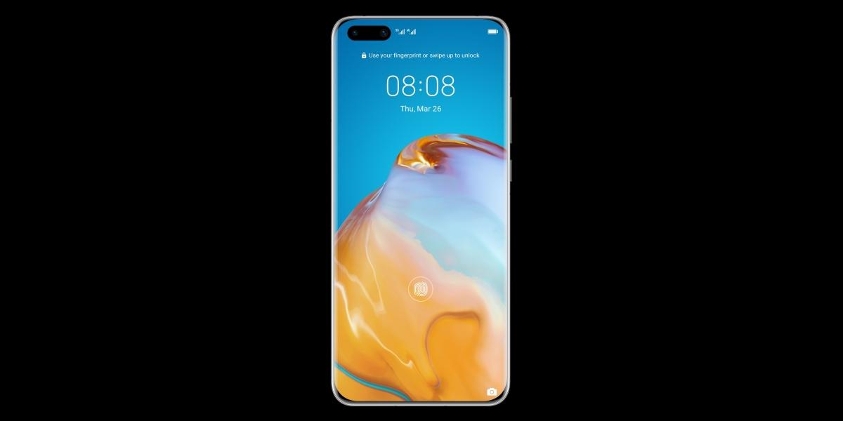 Huawei P40 Pro oferuje czytnik linii papilarnych pod ekranem