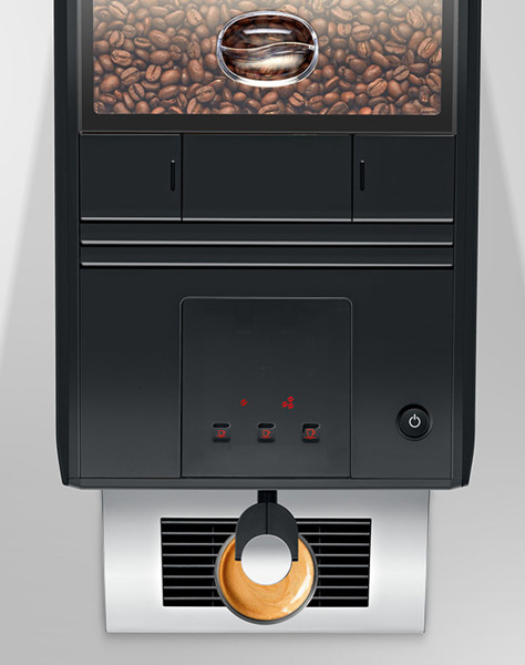 automatyczny ekspres do kawy widok z góry