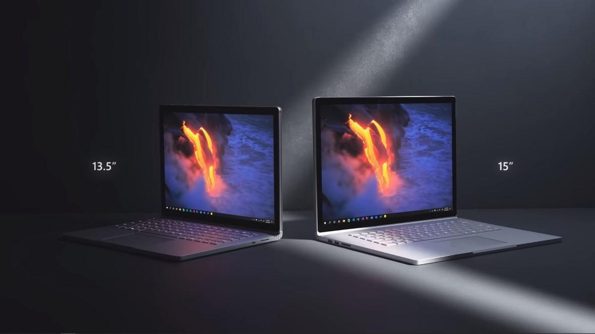 Dwa rozmiary Surface Book 3