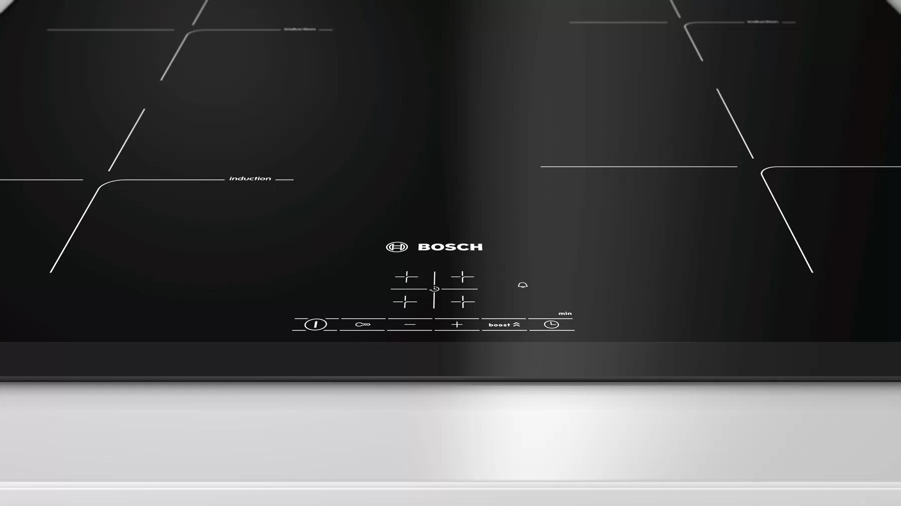 czarna płyta indukcyjna firmy Bosch