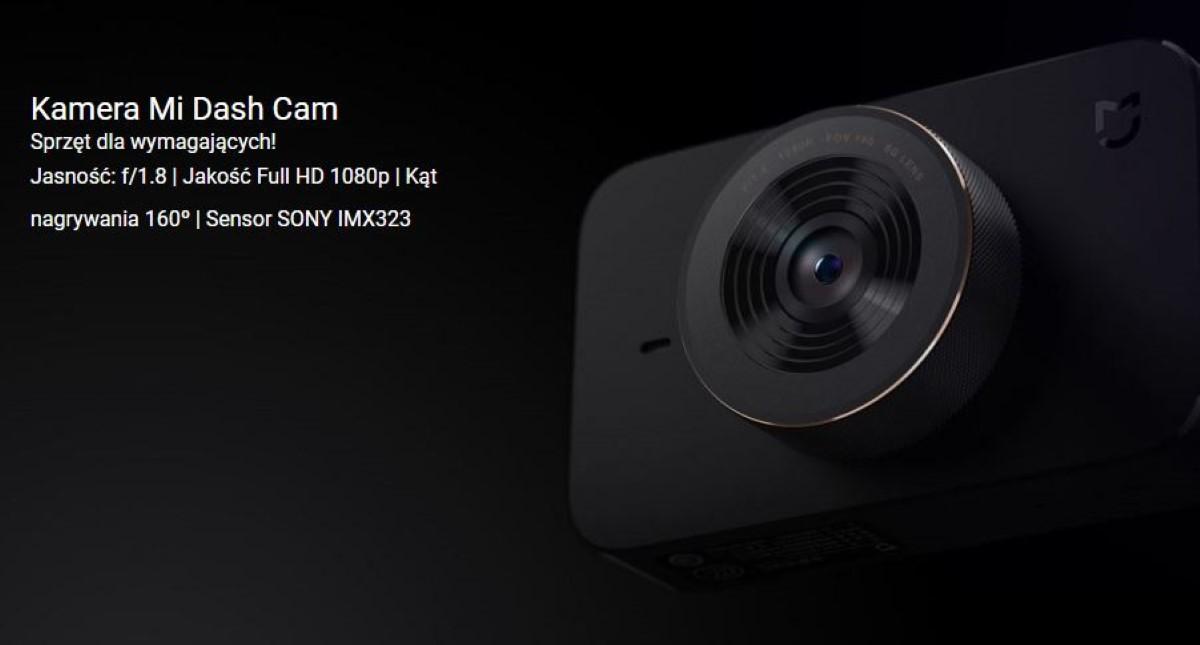 Xiaomi Mi Dash Cam kąt widzenia