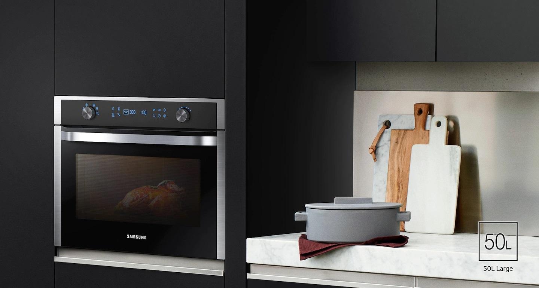 kuchenka mikrofalowa Samsung w zabudowie kuchennej