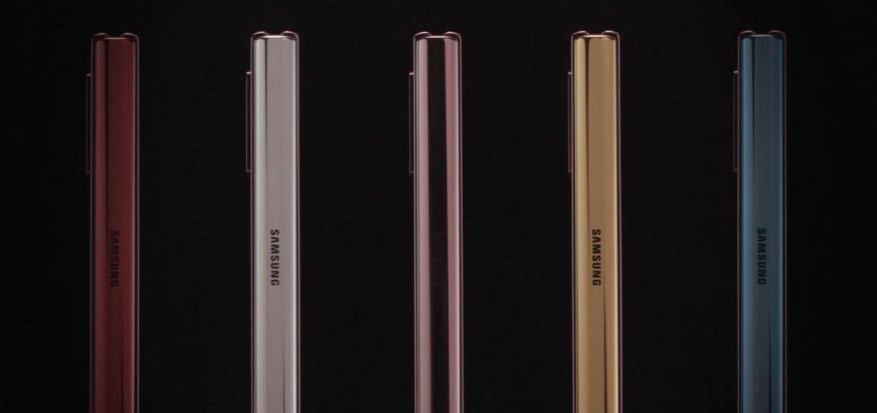 Samsung Galaxy Z Fold 2 kolorowe grzbiety