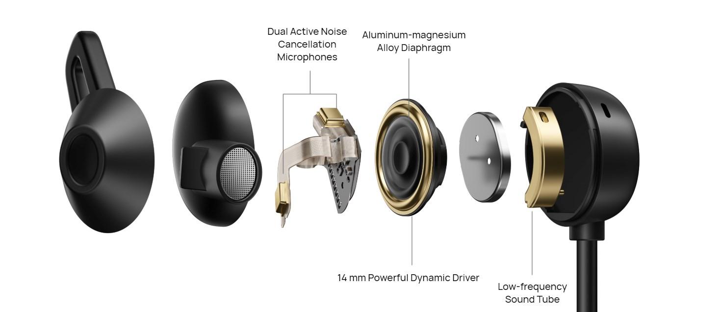 FreeLace Pro przetworniki, mikrofony