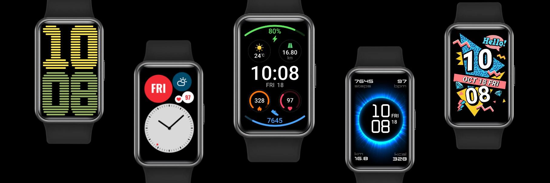 Zmień tarczę w Huawei Watch Fit