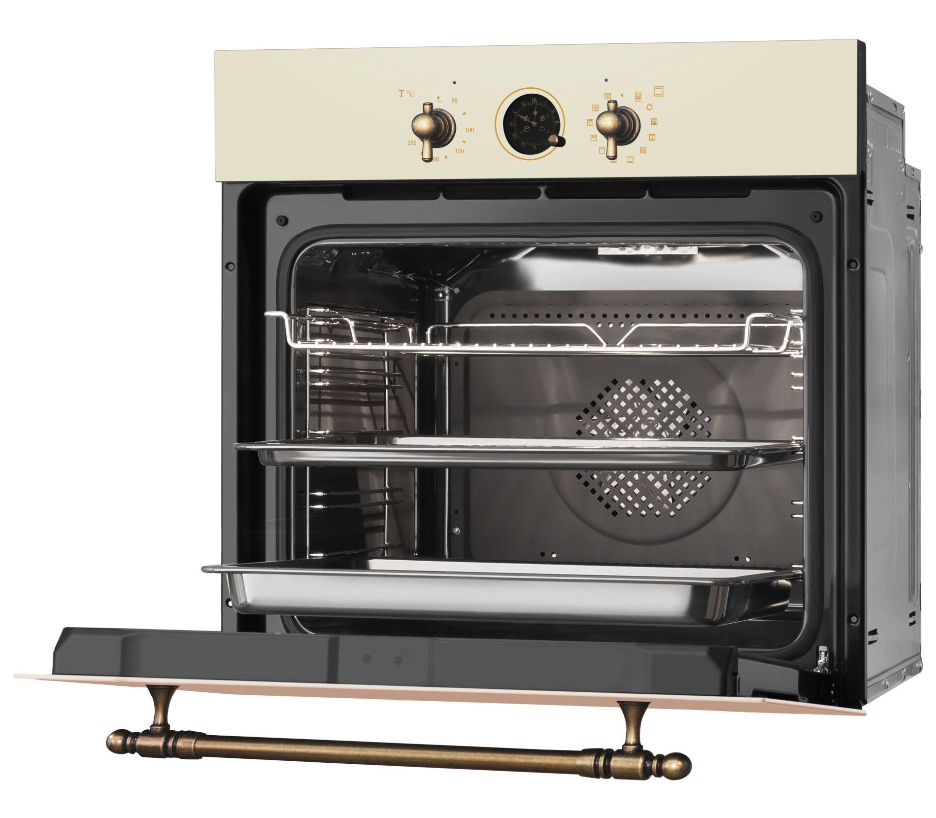 wnętrze piekarnika elektrycznego w stylu retro