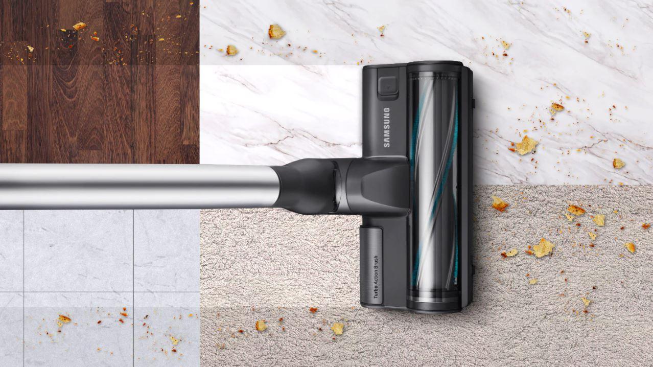 Samsung VS20R9046S3 przejazd ze szczotką turbo