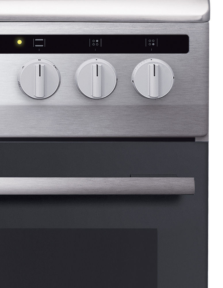 ergonomiczne pokrętła w kuchence gazowo-elektrycznej