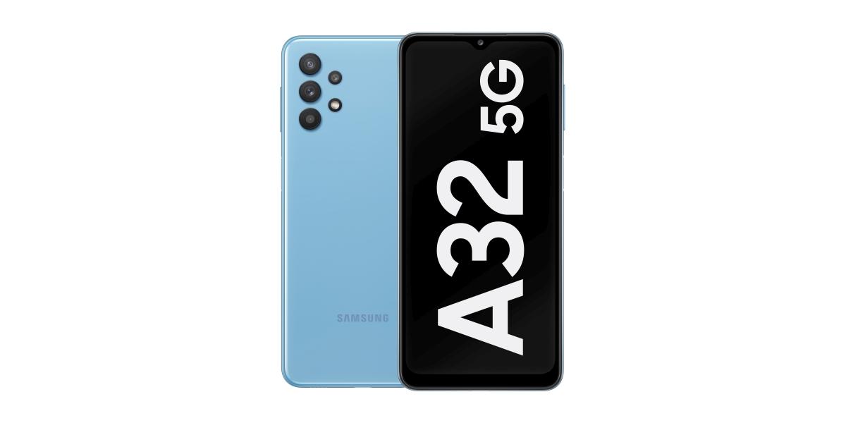 Samsung Galaxy A32 5G błękitny - tekst