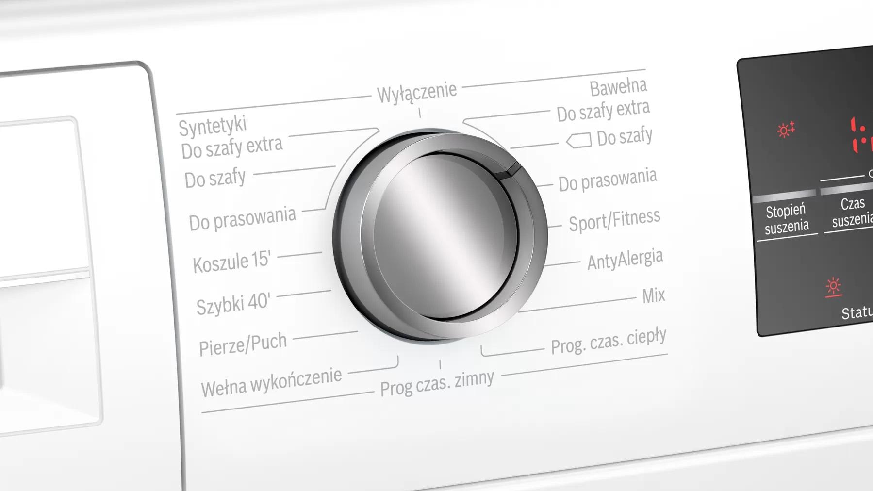 panel sterowania suszarki do prania Bosch