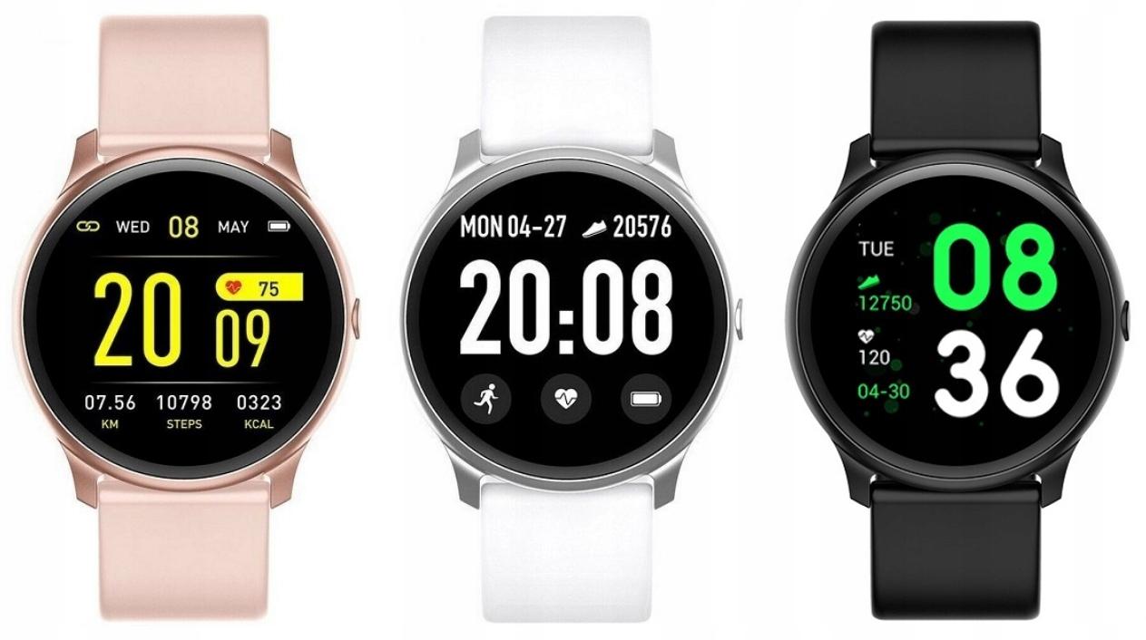 smartwatch w trzech kolorach