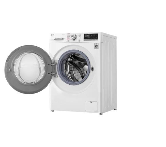 biała pralka automatyczna LG