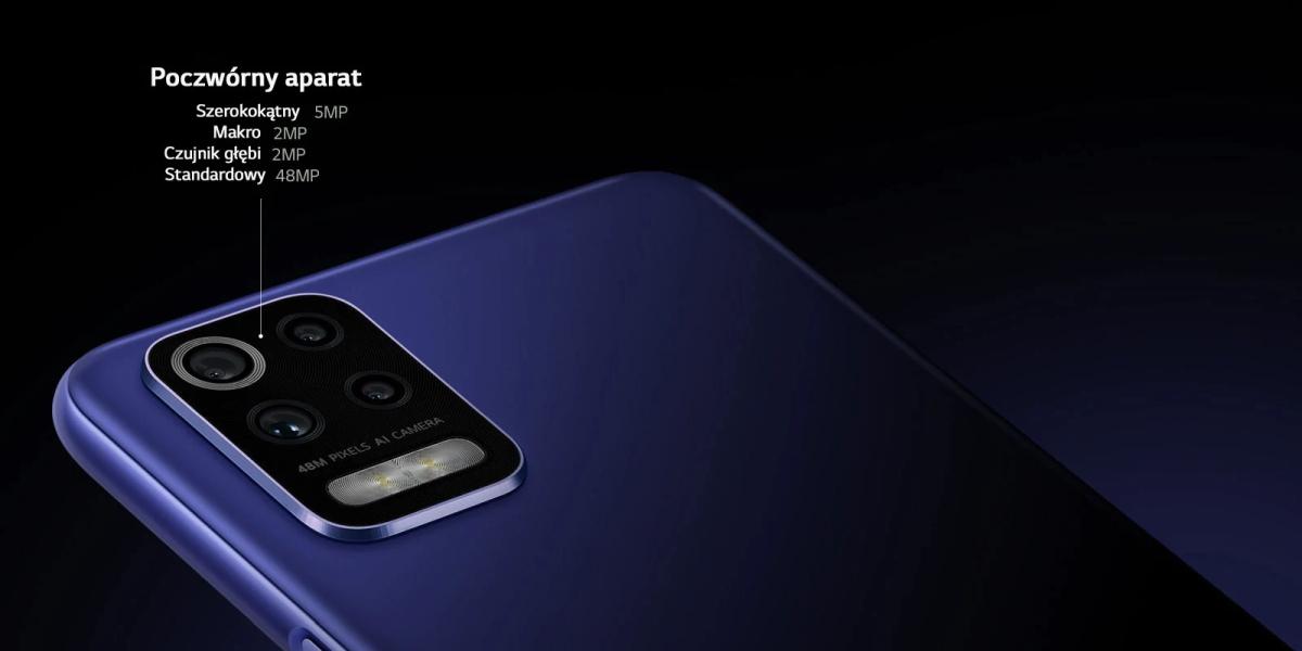 LG K52 cztery aparaty