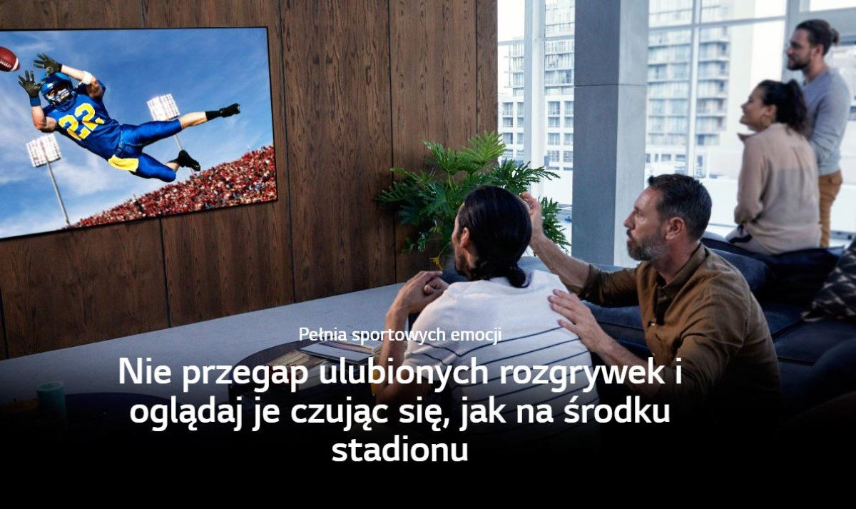 LG OLED65GX3LA przy oglądaniu sportu