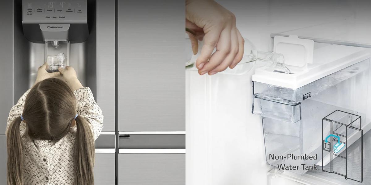 Dystrybutor wody w lodówce LG