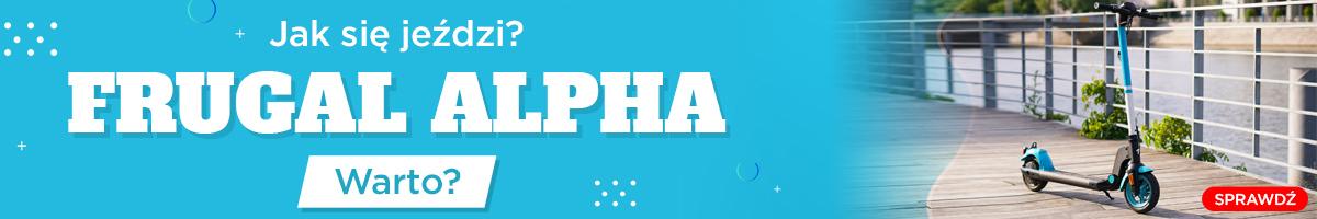 Frugal Alpha - Dla kogo taka hulajnoga elektryczna?