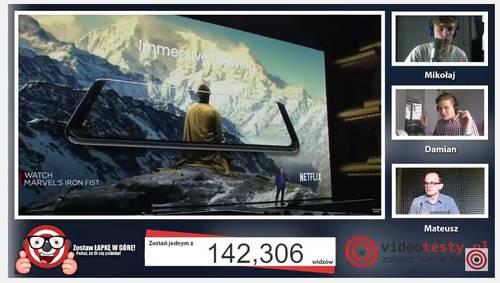 Premiera Samsunga Galaxy S8 - Live Videotesty 10