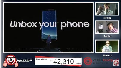 Premiera Samsunga Galaxy S8 - Live Videotesty 13