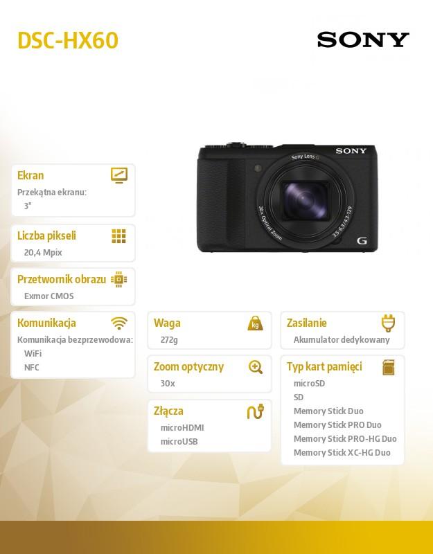 Sony DSC-HX60 czarny