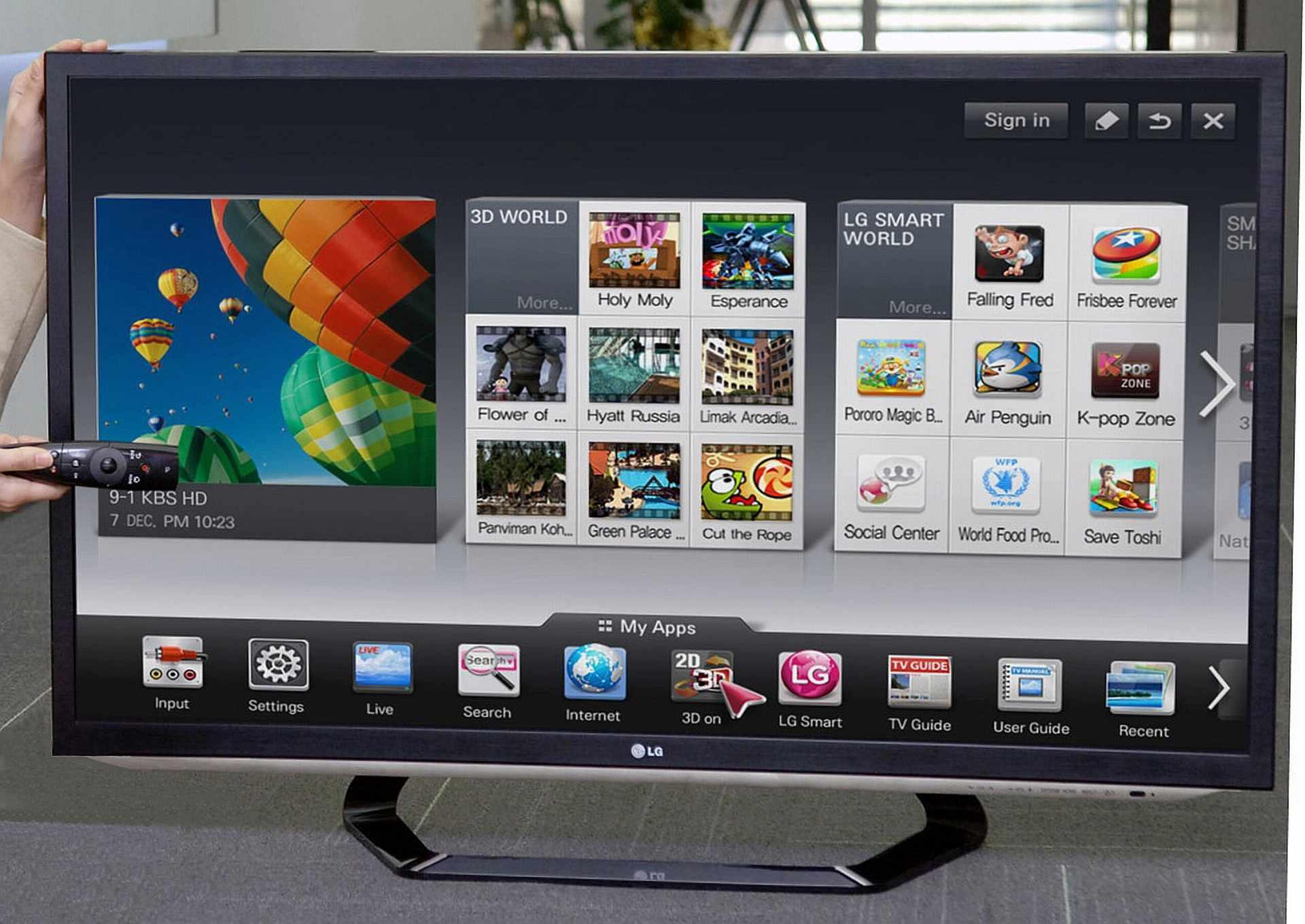 lg smart tv w roku videotesty